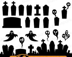 Cemetery clipart halloween graveyard. Tombstones svg cutting files