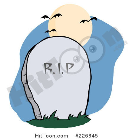 Stone rip in a. Cemetery clipart headstone