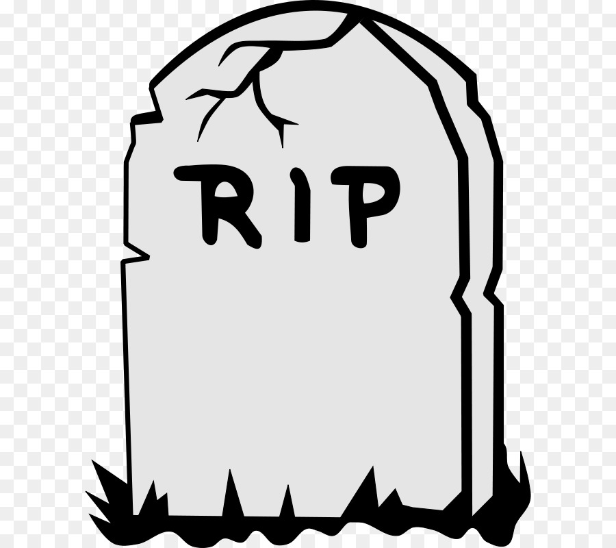 Death clipart. Headstone grave rest in