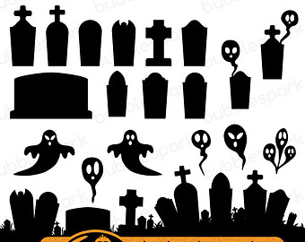Cemetery clipart landscape. Free graveyard border cliparts