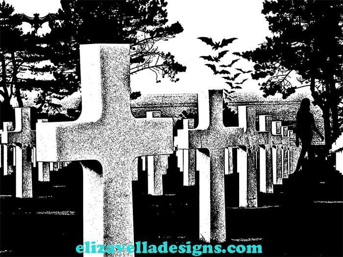 Cemetery clipart landscape. Bats graveyard gothic background