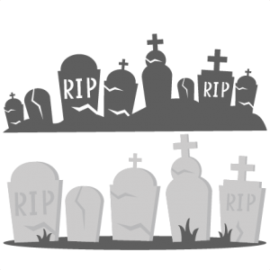 Graveyard clipart. Tombstones svg cutting files