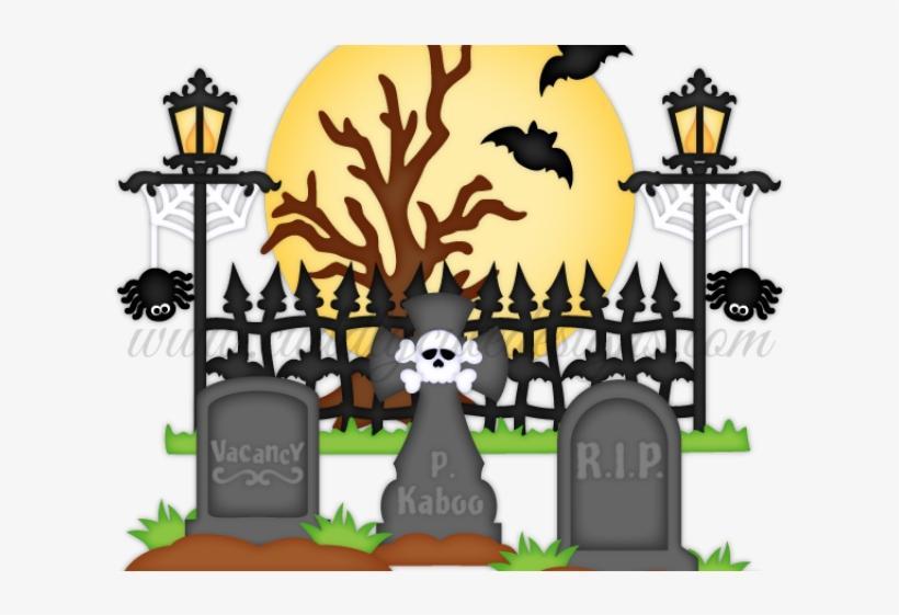 Graveyard spooky . Cemetery clipart scary