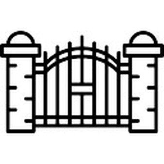 Gates vectors photos and. Cemetery clipart scary