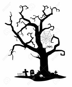 Cemetery clipart scary. Halloween graveyard silhouettes google