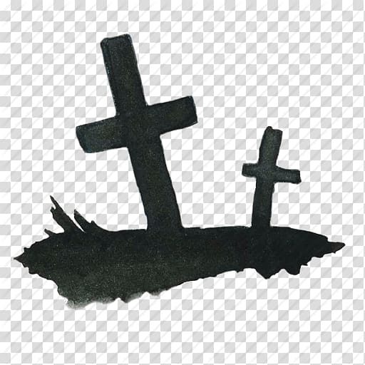 Cemetery clipart scary. Two cross illustration headstone