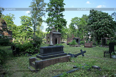 Stock photos and vektor. Cemetery clipart scenery
