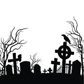 clipartlook. Cemetery clipart scenery