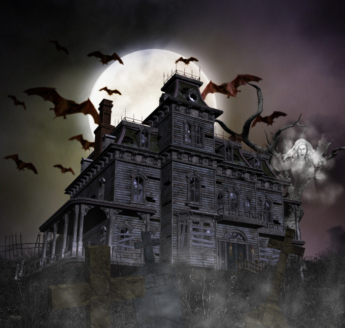 Cemetery clipart scenery. Haunted house graphics butterflywebgraphics