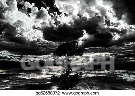 Cemetery clipart scenery. Stock illustration scary dark