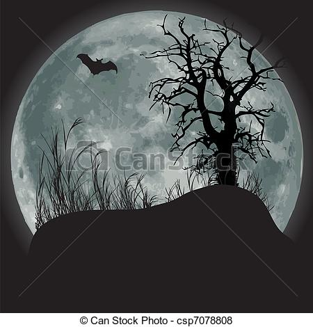 collection of scary. Cemetery clipart scenery