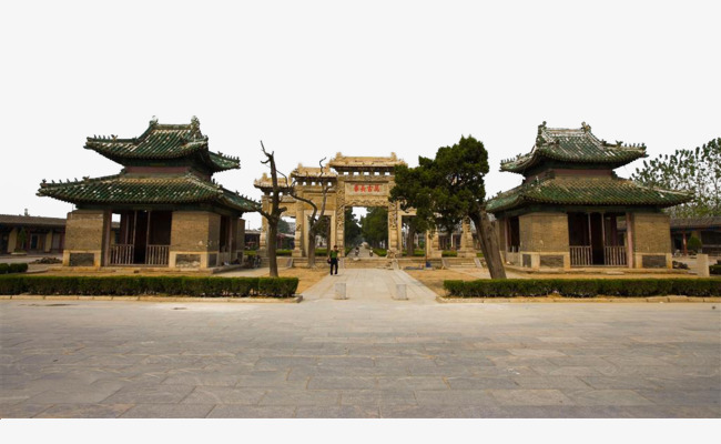 Qufu shandong local attractions. Cemetery clipart scenery