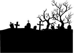 Cemetery clipart silhouette. Graveyard silhouettes