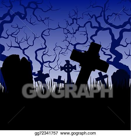 Cemetery clipart tombs. Clip art vector and