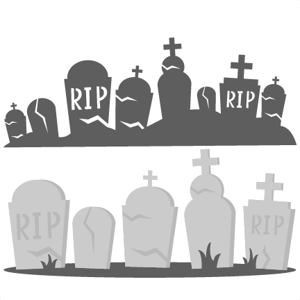 Tombstones svg cutting files. Cemetery clipart tombs