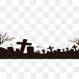 Cemetery clipart transparent. Halloween black material