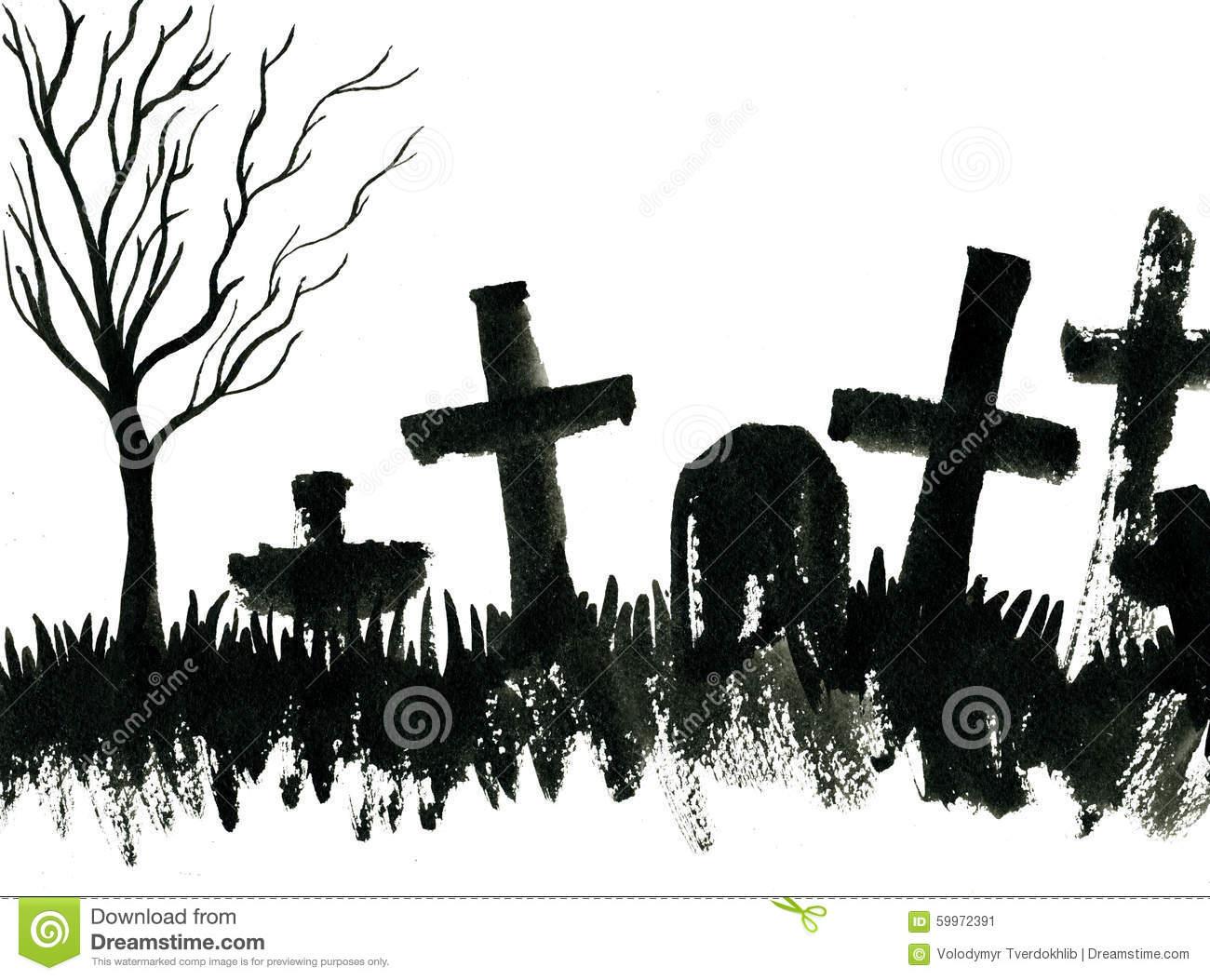 Cemetery clipart vector. Cenetery tomb headstone free