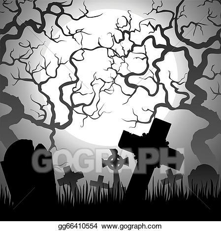Eps stock illustration gg. Cemetery clipart vector
