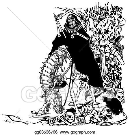 Cemetery clipart vector. Stock grim reaper in