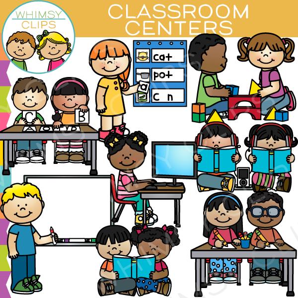 Centers clipart. Classroom clip art set