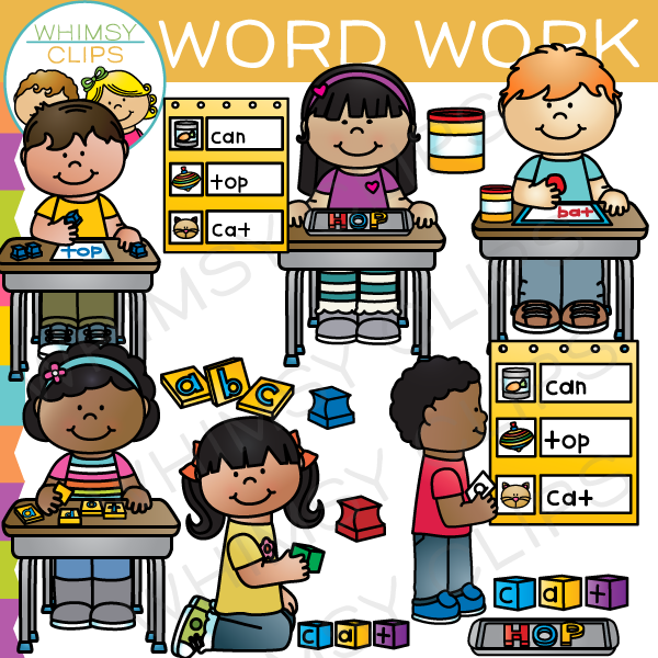 Word work clip art. Centers clipart