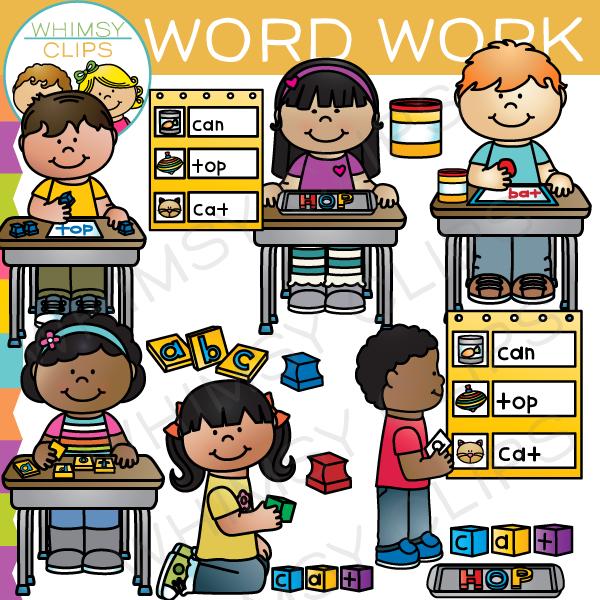 Word work clip art. Chart clipart pocket chart