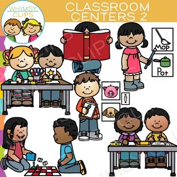Classroom clip art set. Centers clipart