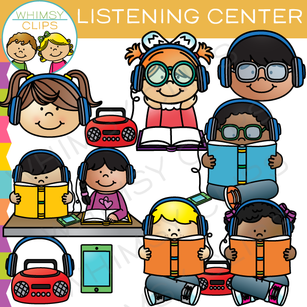Headphones clipart learning center. School classroom centers clip