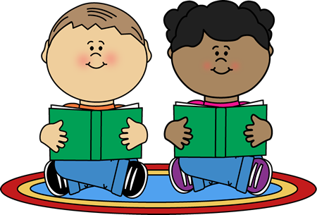 Reading center clip art. Toddler clipart buddy read