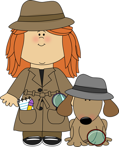Detective clipart free kid. Girl with dog clip