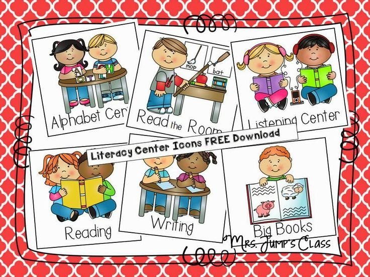 best activities images. Centers clipart literacy center