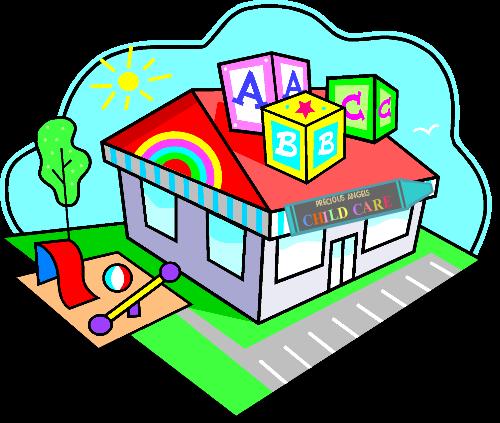 Preschool centers clip art. Caring clipart daycare