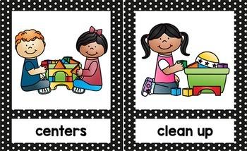 Preschool clipart pre k. Picture schedule editable