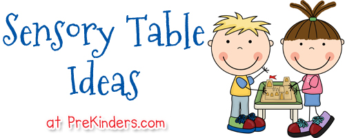 Centers clipart sensory table. Ideas prekinders here are