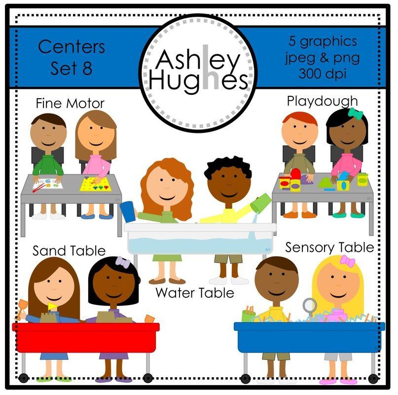 Set a hughes design. Centers clipart sensory table