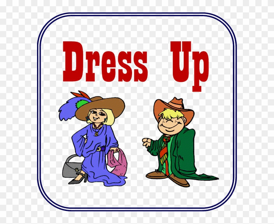 Play dress up center. Centers clipart sign
