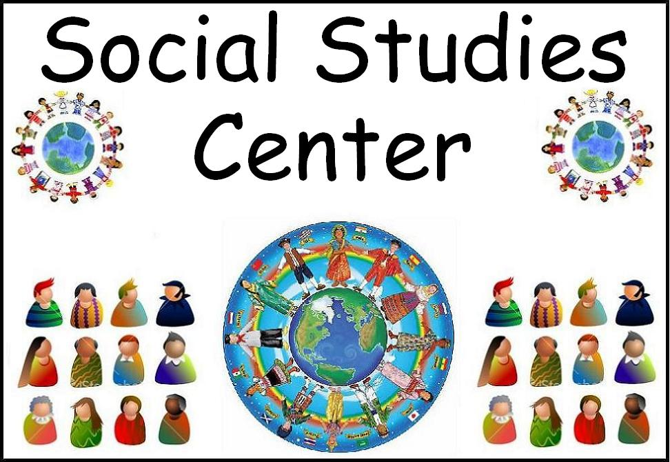 Classroom center signs . Centers clipart social study