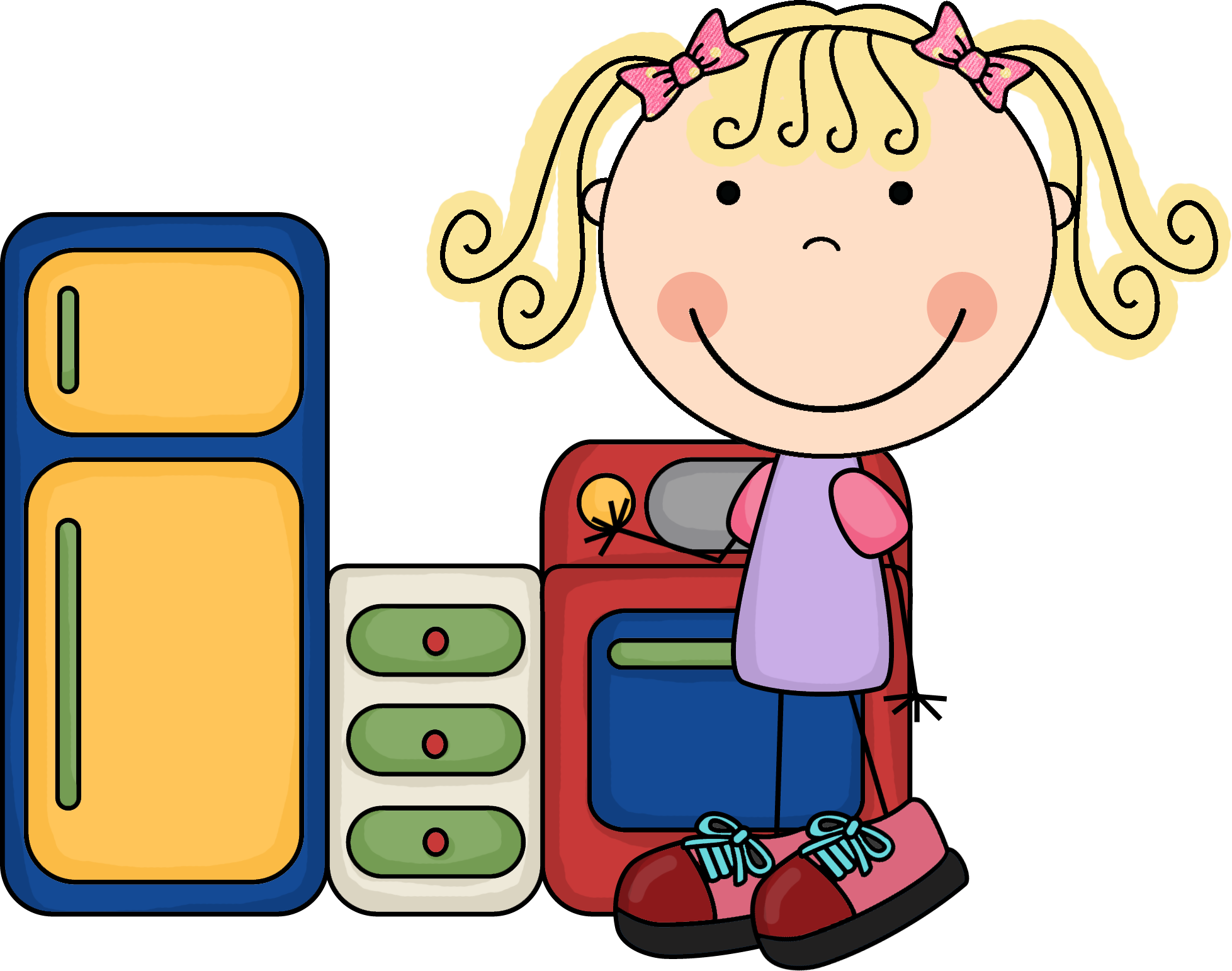 Library center clip art. Maid clipart kid