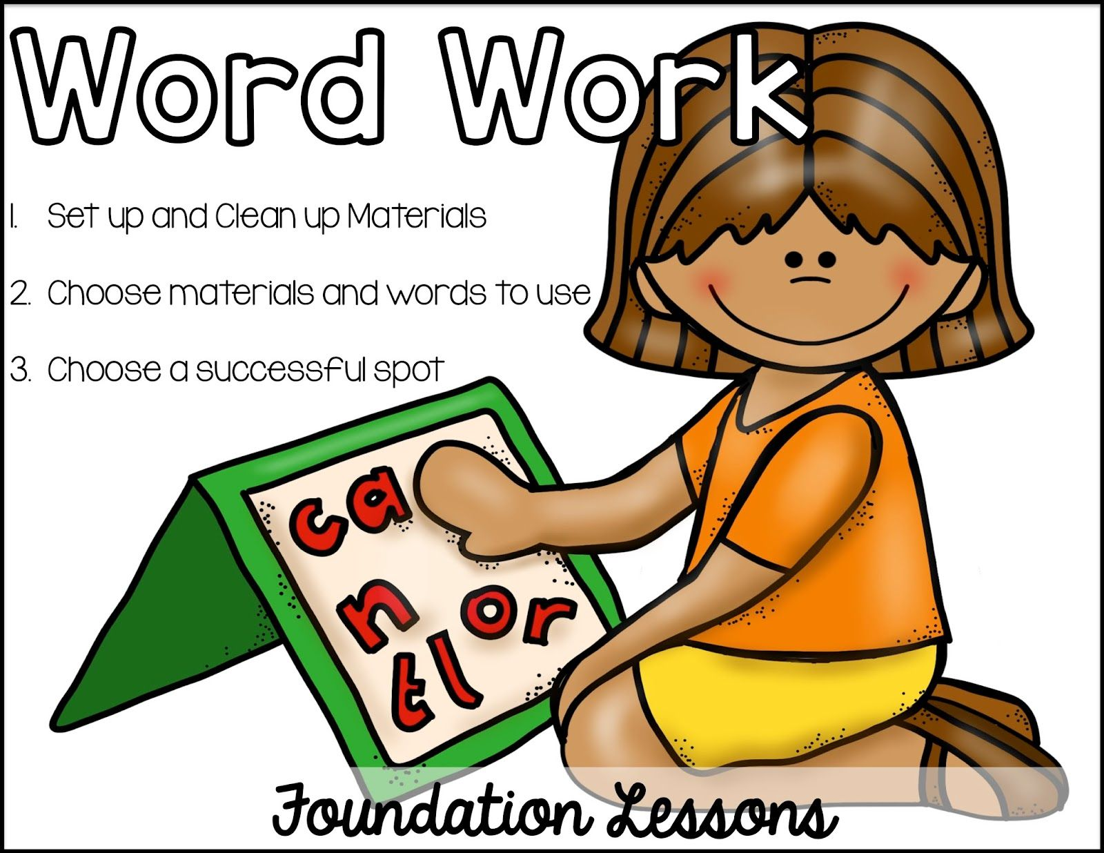 Dictionary clipart word work center. Listen to read aloud
