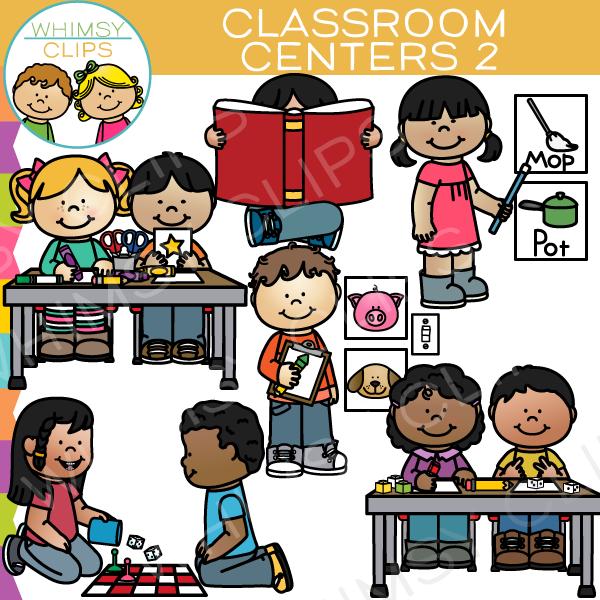 Classroom clip art images. Centers clipart