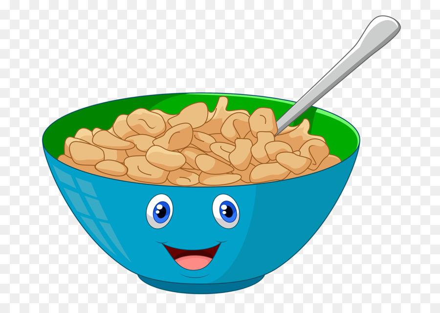Cereal clipart. Food background breakfast milk