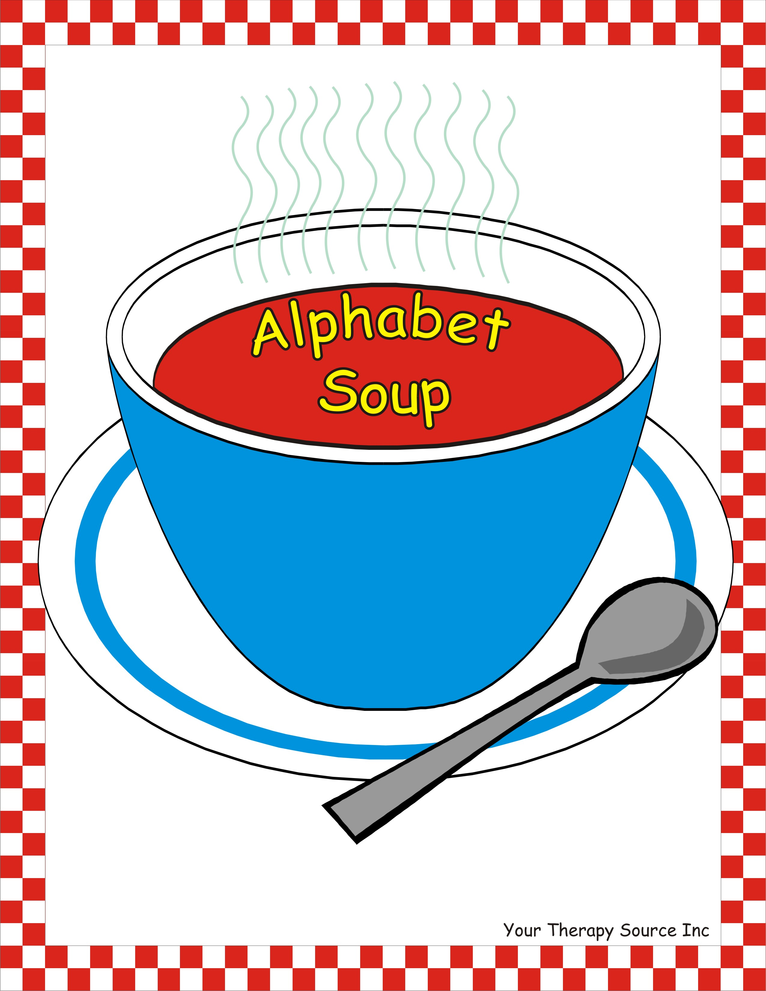 Cereal clipart alphabet soup. Pencil and in color