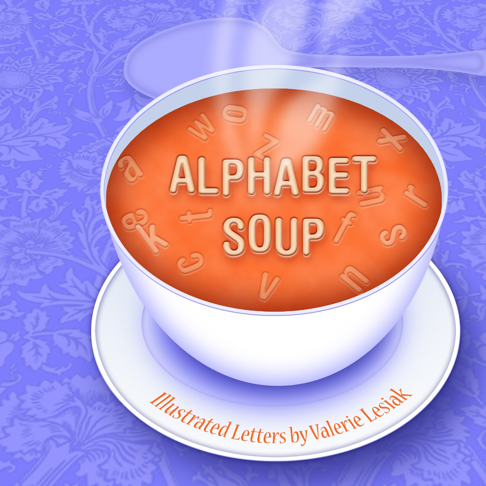 Pencil and in color. Cereal clipart alphabet soup