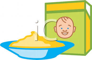 Royalty free image of. Cereal clipart baby cereal