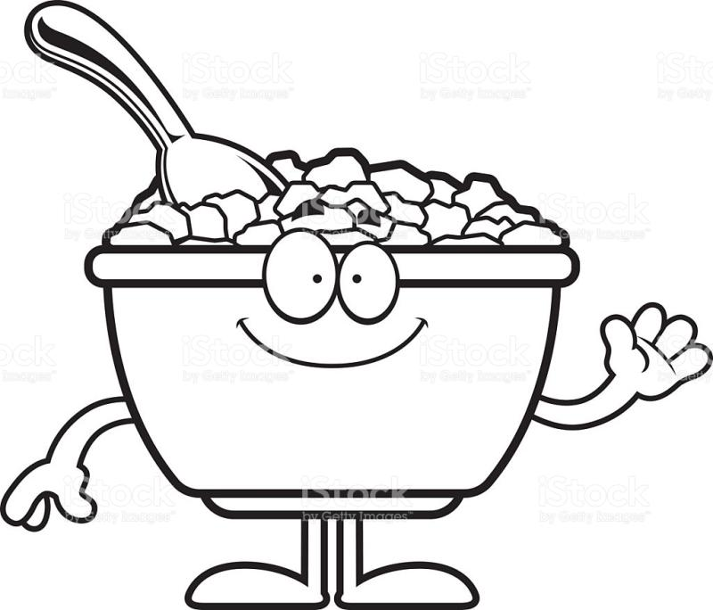 Drawing at getdrawings com. Cereal clipart black and white
