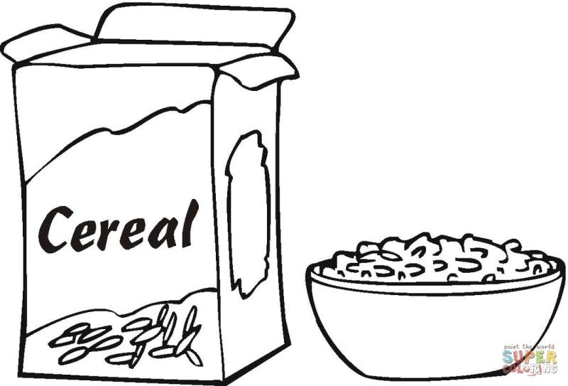 Cereal clipart black and white. Box pngline pin