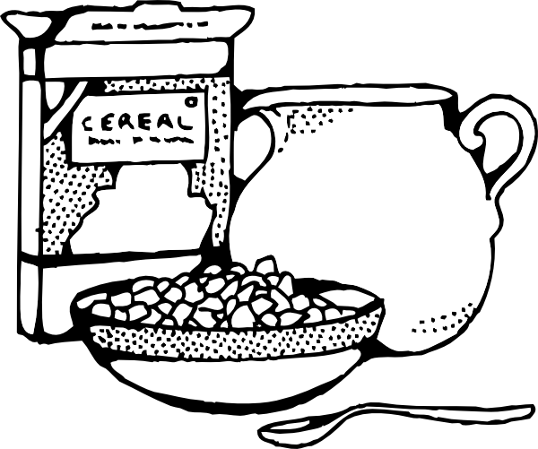 Station. Cereal clipart black and white