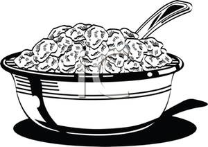 Cereal clipart black and white. Letters free image a