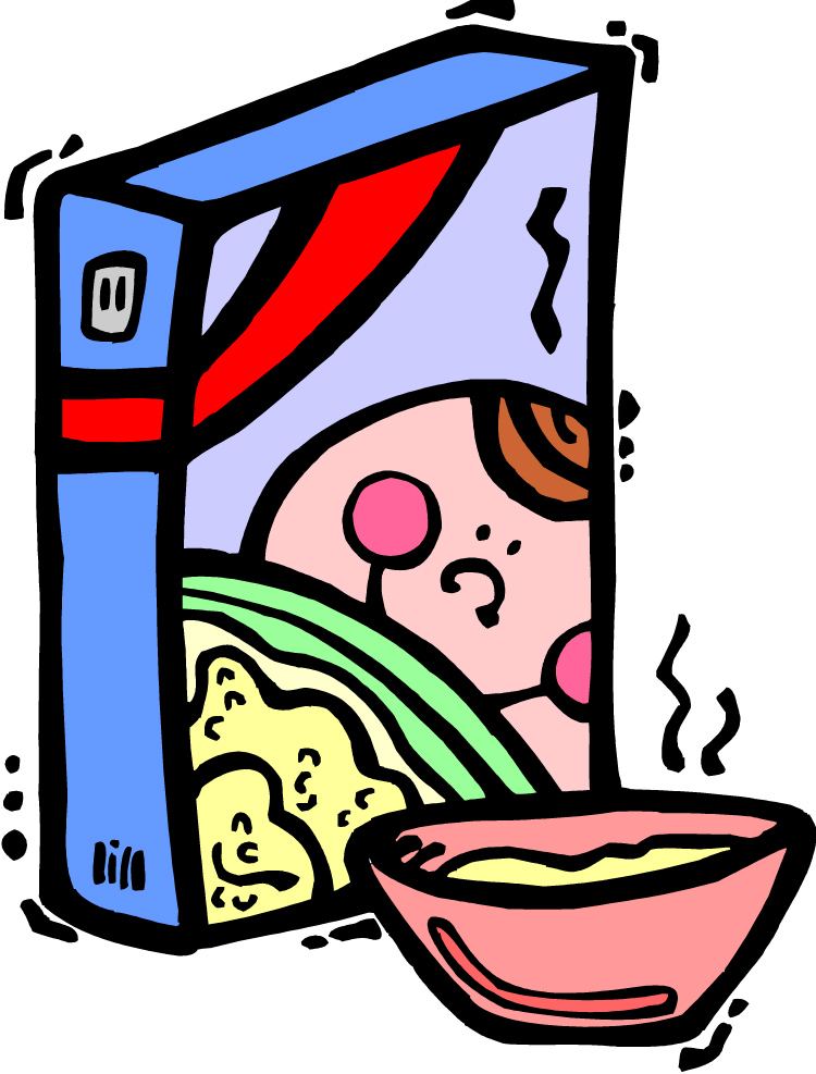 Mommy tsunamis healthy breakfast. Cereal clipart boxed
