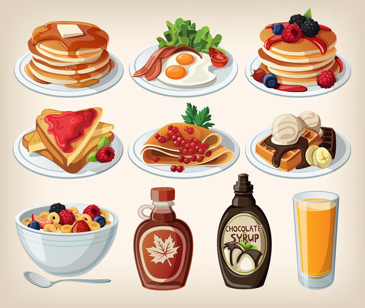 foods you should. Cereal clipart breakfast food